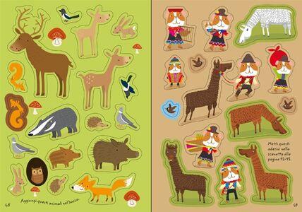 Foto Cover di 1000 adesivi di animali, Libro di Fiona Watt,Stella Baggott, edito da Usborne Publishing 3