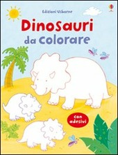 Dinosauri da colorare. Con adesivi