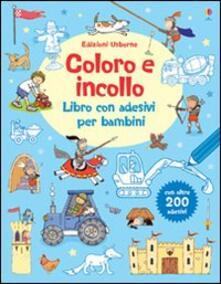 Coloro e incollo. Libro con adesivi per bambini.pdf