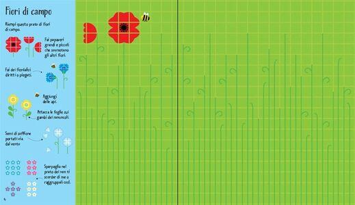 Libro Fiori. Mosaici attacca e stacca Fiona Watt , Carly Davies 1