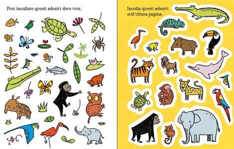 Libro Giungla da colorare. Con adesivi Candice Whatmore , Alice Primmer 3