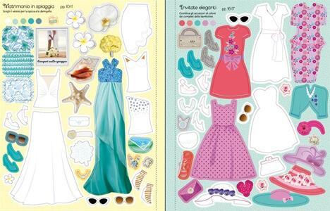 Stilista per gioco. Collezione sposa. Vesto le bamboline. Con adesivi - Fiona Watt,Stella Baggott - 4