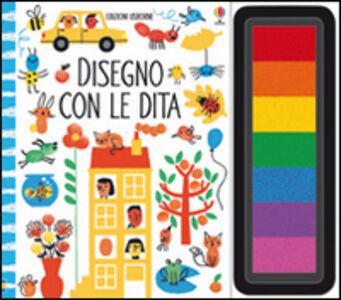 Foto Cover di Disegno con le dita, Libro di Fiona Watt,Erica Harrison, edito da Usborne Publishing 0
