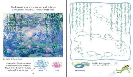Libro L' arte da colorare per i bambini. Con adesivi Rosie Dickins , Carles Ballesteros 1