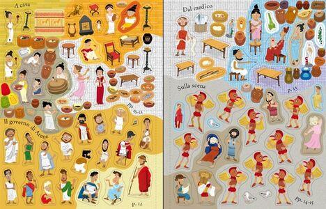 Libro Gli antichi Greci. Con adesivi Fiona Watt , Paul Nicholls 3