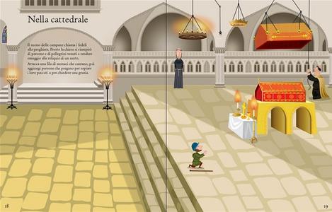 Libro La vita nel Medioevo. Con adesivi Fiona Watt , Paul Nicholls 2