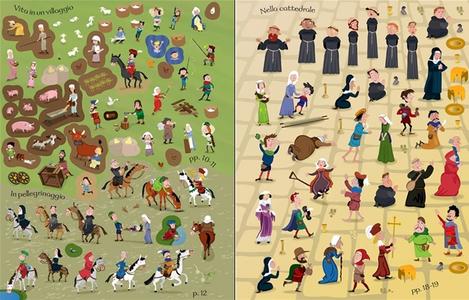 Libro La vita nel Medioevo. Con adesivi Fiona Watt , Paul Nicholls 3