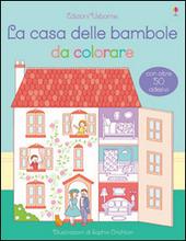 La casa delle bambole da colorare. Con adesivi