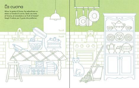 Foto Cover di La casa delle bambole da colorare. Con adesivi, Libro di Abigail Wheatley,Sophie Crichton, edito da Usborne Publishing 1