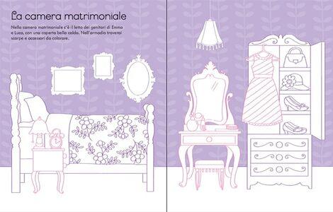 Foto Cover di La casa delle bambole da colorare. Con adesivi, Libro di Abigail Wheatley,Sophie Crichton, edito da Usborne Publishing 2