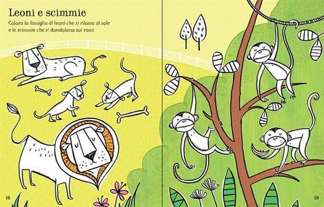 Lo zoo. Coloro e incollo. Ediz. illustrata - Jessica Greenwell,Cecilia Johansson,Candice Whatmore - 3