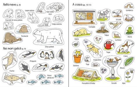 Animali. Coloro e incollo. Con adesivi. Ediz. illustrata - Jessica Greenwell,Cecilia Johansson - 4