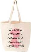 Libro in inglese Lovelit Tote Jane Austen Quote Smith Gibbs