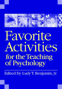 Libro in inglese Favorite Activities for the Teaching of Psychology