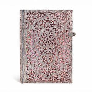 Cartoleria Taccuino notebook Paperblanks Rosa cipria midi a righe Paperblanks