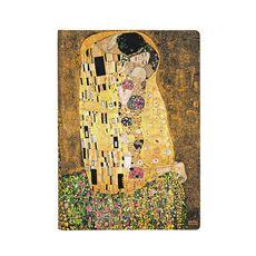 Cartoleria Taccuino notebook Paperblanks Centenario di Klimt, Il Bacio midi a righe Paperblanks