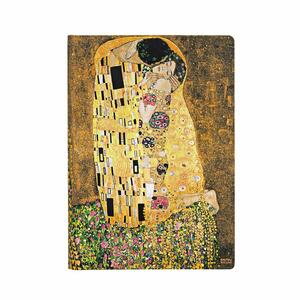 Taccuino notebook Paperblanks Centenario di Klimt, Il Bacio midi a righe