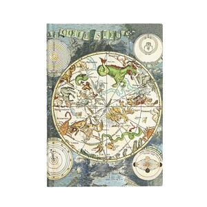 Cartoleria Taccuino Paperblanks copertina morbida Midi a righe Planisfero Celeste - 13 x 18 cm Paperblanks