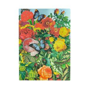Cartoleria Taccuino Paperblanks copertina morbida Midi a righe Il Giardino delle Farfalle - 13 x 18 cm Paperblanks