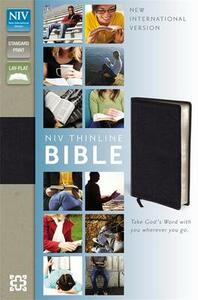 NIV Thinline Black Bonded Leather Bible - New International Version - cover