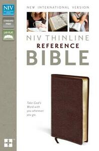 NIV Thinline Reference Bible Burgundy Leather - New International Version - cover