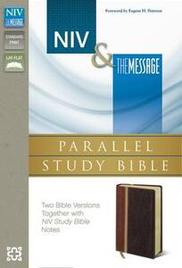 NIV/The Message Parallel Study Bible Caramel/Black Cherry Duo Tone - New International Version - cover