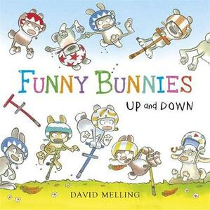 Funny Bunnies: Up and Down Board Book - David Melling - cover