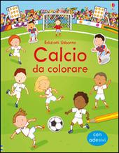 Calcio da colorare. Con adesivi