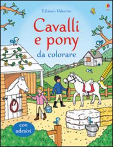 Daddyswing.es Cavalli e pony da colorare. Ediz. illustrata Image