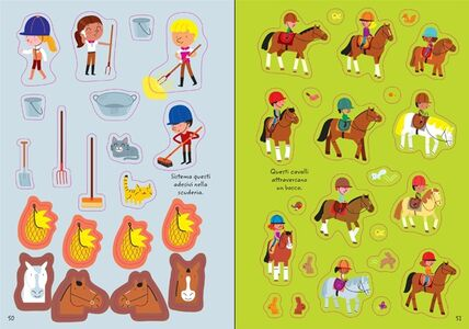 Libro 1000 adesivi di cavalli e pony Lucy Bowman , Adrien Siroy 2
