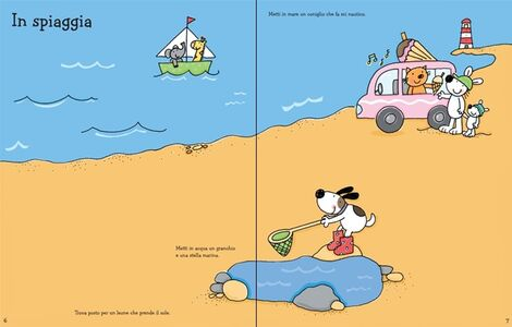 Foto Cover di Le vacanze. Coloro e incollo. Con adesivi, Libro di Jessica Greenwell,Stacey Lamb, edito da Usborne Publishing 1