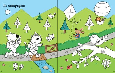 Foto Cover di Le vacanze. Coloro e incollo. Con adesivi, Libro di Jessica Greenwell,Stacey Lamb, edito da Usborne Publishing 2