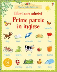 Foto Cover di Prime parole in inglese. Con adesivi, Libro di Heather Amery,Stephen Cartwright, edito da Usborne Publishing