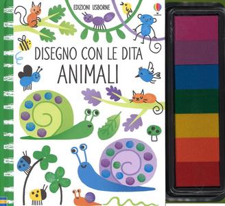 Libro Animali. Disegno con le dita Fiona Watt , Erica Harrison