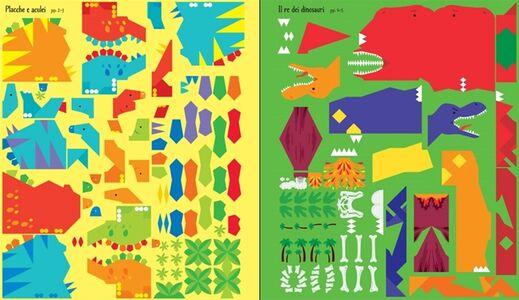 Foto Cover di Dinosauri. Mosaici attacca e stacca, Libro di Kirsteen Robson,Carly Davies, edito da Usborne Publishing 3