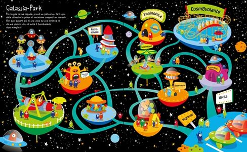 Libro Labirinti spaziali. I grandi libri dei labirinti  2