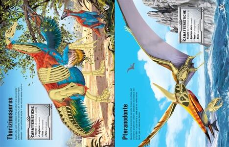 Dinosauri. Costruisco con gli adesivi. Ediz. illustrata - Simon Tudhope,Franco Tempesta - 3
