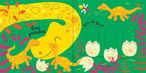 Foto Cover di Dinosauri. Trascina e scopri. Primi libri tattili, Libro di Fiona Watt,Stella Baggott, edito da Usborne Publishing 1
