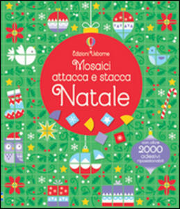 Natale. Mosaici attacca e stacca - Kirsteen Robson,Carly Davies - copertina