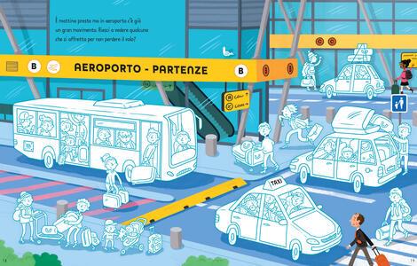 L' aeroporto. Coloro e incollo. Con adesivi. Ediz. a colori - Sam Smith,Simon Tudhope - 3