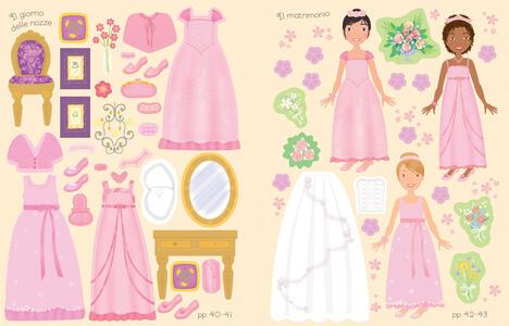Nozze e damigelle d'onore. Vesto le bamboline. Con adesivi. Ediz. a colori - Fiona Watt - 2