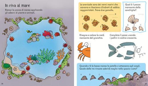 La natura. Il libro dei giochi. Con adesivi. Ediz. a colori - Rebecca Gilpin - 3