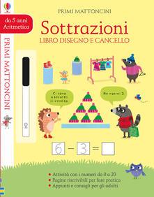 Radiospeed.it Sottrazioni. Libro disegno e cancello. Primi mattoncini. Ediz. a colori. Con gadget Image