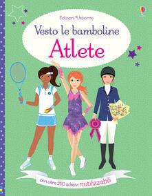 Amatigota.it Atlete. Vesto le bamboline. Con adesivi. Ediz. a colori Image