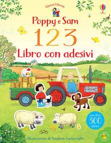 Poppy e Sam. 1 2 3. Libro con adesivi - Rachel Wilkie - copertina