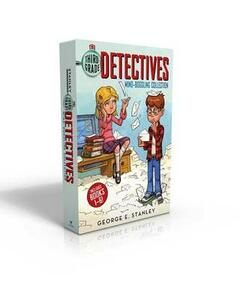 The Third-Grade Detectives Mind-Boggling Collection: The Clue of the Left-Handed Envelope; The Puzzle of the Pretty Pink Handkerchief; The Mystery of the Hairy Tomatoes; The Cobweb Confession; The Riddle of the Stolen Sand; The Secret of the Green Skin - George E Stanley - cover