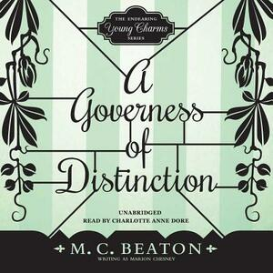 A Governess of Distinction - M C Beaton Writing as Marion Chesney - cover