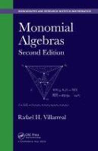 Monomial Algebras - Rafael H. Villarreal - cover