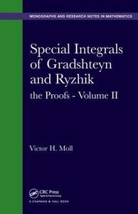 Special Integrals of Gradshteyn and Ryzhik: the Proofs - Volume II - Victor H. Moll - cover