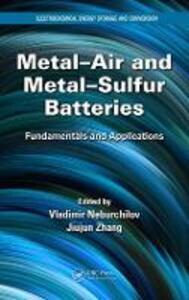 Metal-Air and Metal-Sulfur Batteries: Fundamentals and Applications - cover